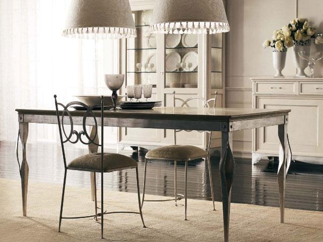 Catalogo mobili cucine ed arredi - Tavolo ferro battuto e vetro ...